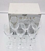 Lehmann Glass opale 7.5 Crystal Champagne Glasses Holds 5-1/3 Ozs.