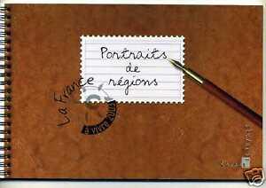 France 2003 France à Vivre Carnet Livre 4001, Portraits De Regions, 10 Timbres