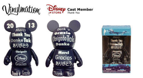 "Cast Member Exclusive 2013 /""Thank You/"" Disney 3/"" Vinylmation"