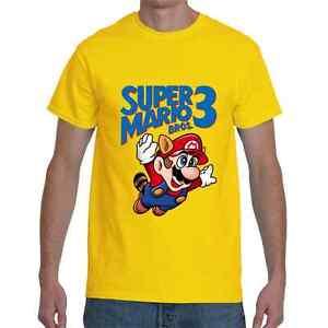 4f9c6744 Super Mario Bros. 3 Nintendo Retro Short Sleeve Yellow Men's T-Shirt ...