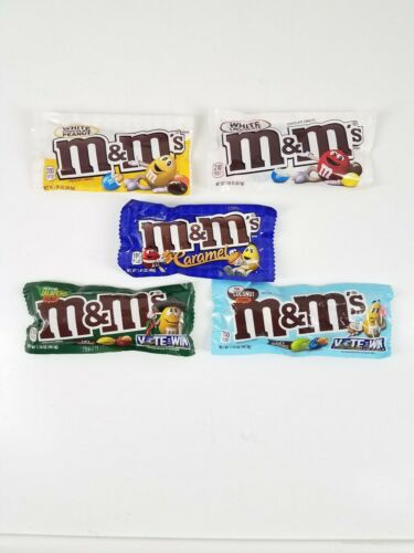 White Chocolate Peanuts Mexican Jalapeno 5 Bag Lot M/&M'S Thai Coconut Caramel