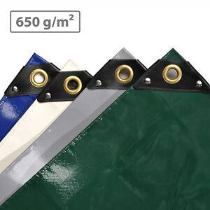 Lona de protección NEMAXX Premium 2 -12 m con ojales, PVC de 650 g/m², cubierta