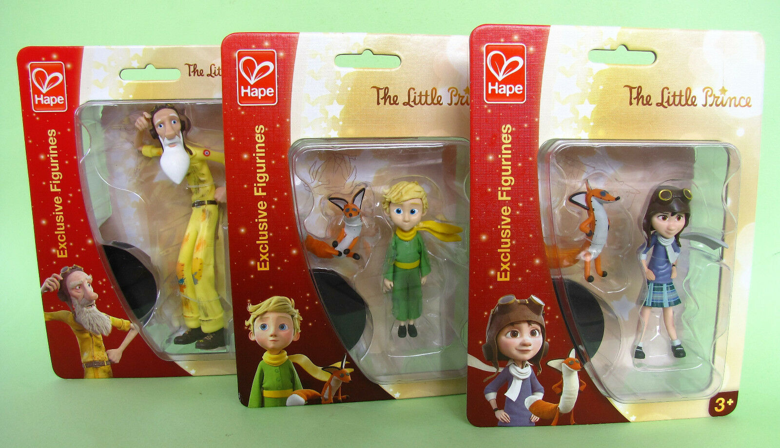 Lot Of 3 The Little Prince Figures Antoine de Saint-Exupéry Hape MISB 2015