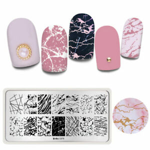 Harunouta-Stamping-Plates-Marble-Image-Stainless-Steel-Nail-Stamp-Stencils-L079