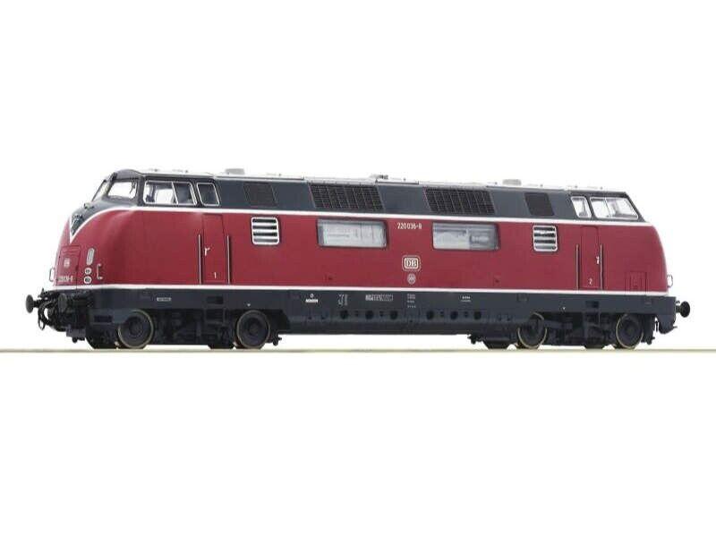 Roco 52680 locomotora diesel 220 036-8 el rosso DB, DC, pista h0