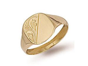 Gold Signet Ring Men S Signet Ring Gents Yellow Gold Cushion Signet