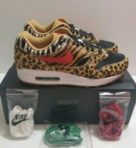 promo code 2e2c4 10b95 Details about Nike Air Max 1 DLX ATMOS Animal Pack Wheat Sport Red Bison Sz  9.5 (AQ0928-700)