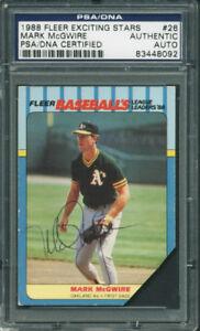 Athletics-Mark-Mcgwire-Authentic-Signed-Card-1988-Fleer-26-PSA-DNA-Slabbed