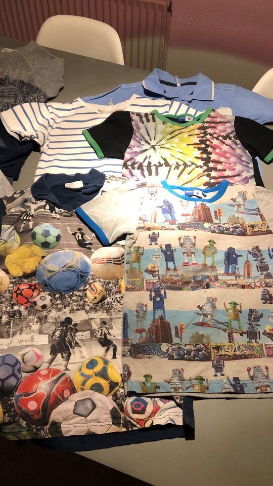 Blandet tøj, 5 t-shorts, 3 undertrøjer