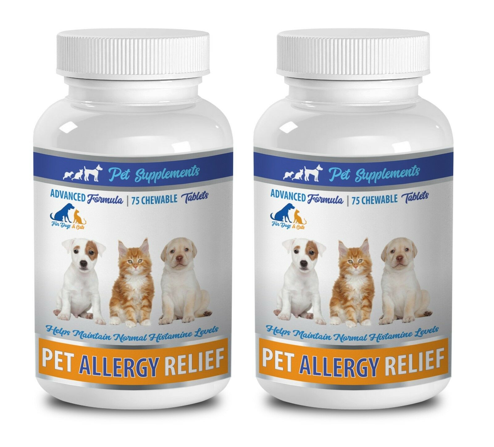 Cat fur supplement -ALLERGY RELIEF FOR DOGS AND CATS 2B- cat skin and coat treat