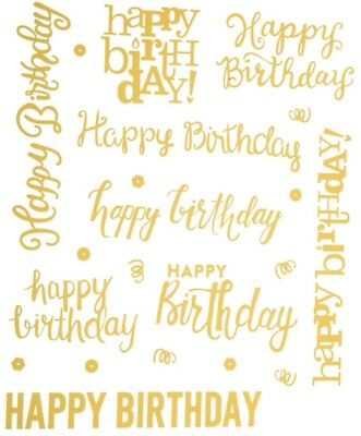 18 Merry Christmas Gold Foiled Phrase Word Scrapbook Stickers