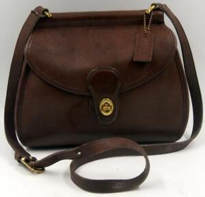 Vintage-Coach-Logan-Brown-Leather-Women-039-s-Shoulder-Crossbody-Messenger-Bag