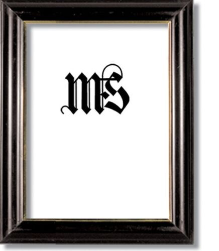 #604 Black /& Gold Solid Wood Frame for Picture//Photo//Poster//Diploma