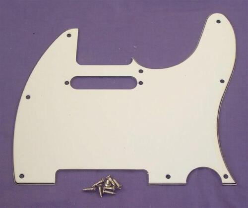 WHITE 3 PLY SCRATCHPLATE FOR FENDER TELECASTER