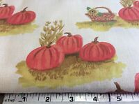 Harvest Pumpkins & Baskets-cotton By Classic Fabrics- By The Yard