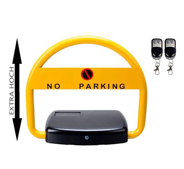 Parkplatzsperre Mit 2 Fernbedienung Klappbar Parkplatzb/ügel Anti-Kollision Parkschranke Parkraumschloss