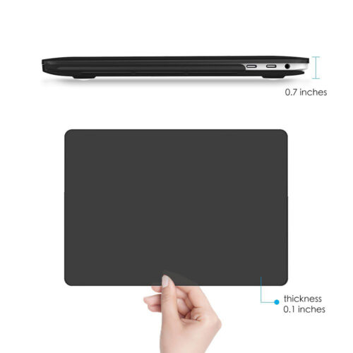 """Soft Plastic Matte Case+Black Keyboard for Macbook Pro 13/""""With Touch Bar A1706"""