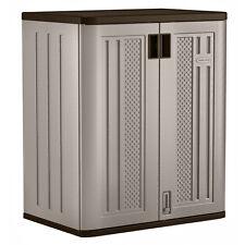 Suncast Base Resin Wicker Storage Cabinet  NO SALES TAX