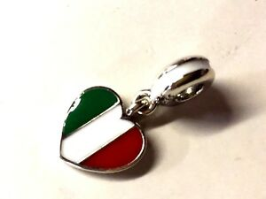 a3e7ea6f1 Image is loading NEW-TAGS-AUTHENTIC-PANDORA-SILVER-CHARM-ITALY-FLAG-