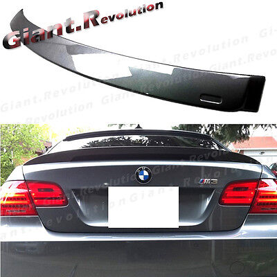 Custom Color For 07-13 BMW E92 2Dr 320i 328i 335i M3 Style Trunk Spoiler Lip
