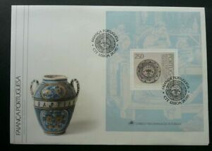 SJ-Portugal-Portuguese-Stoneware-Pottery-1990-Art-Culture-Ancient-Ceramic-FDC