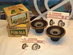 pair or vintage pioneer pim 16a mechanical 2 way speakers. Black Bedroom Furniture Sets. Home Design Ideas