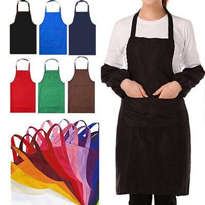 kleid ärmellose schürze wasserdicht vorne einfarbig bar küche haushalt koch