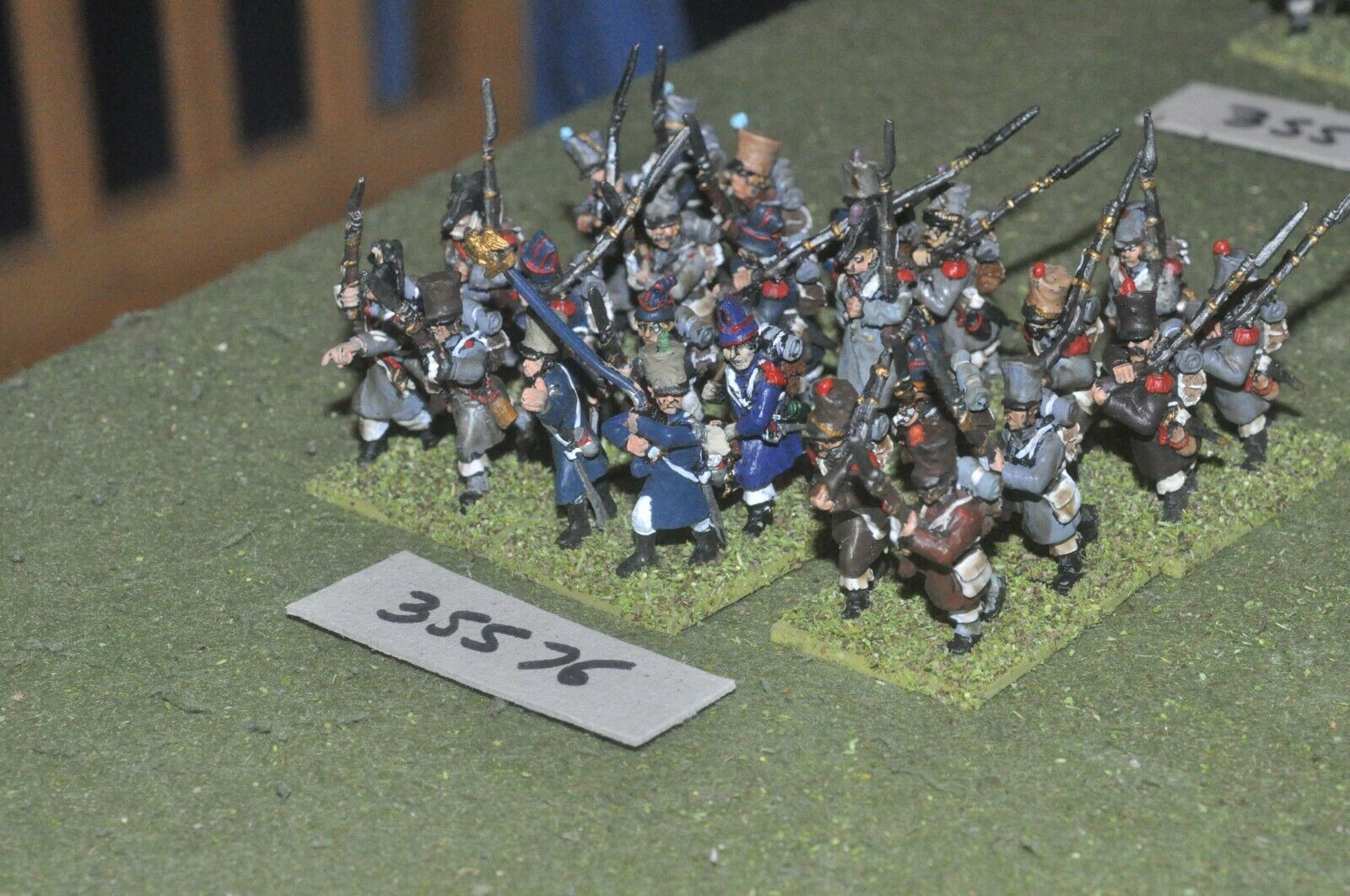 25mm napoleonic   french - regiment 24 figures - inf (35576)