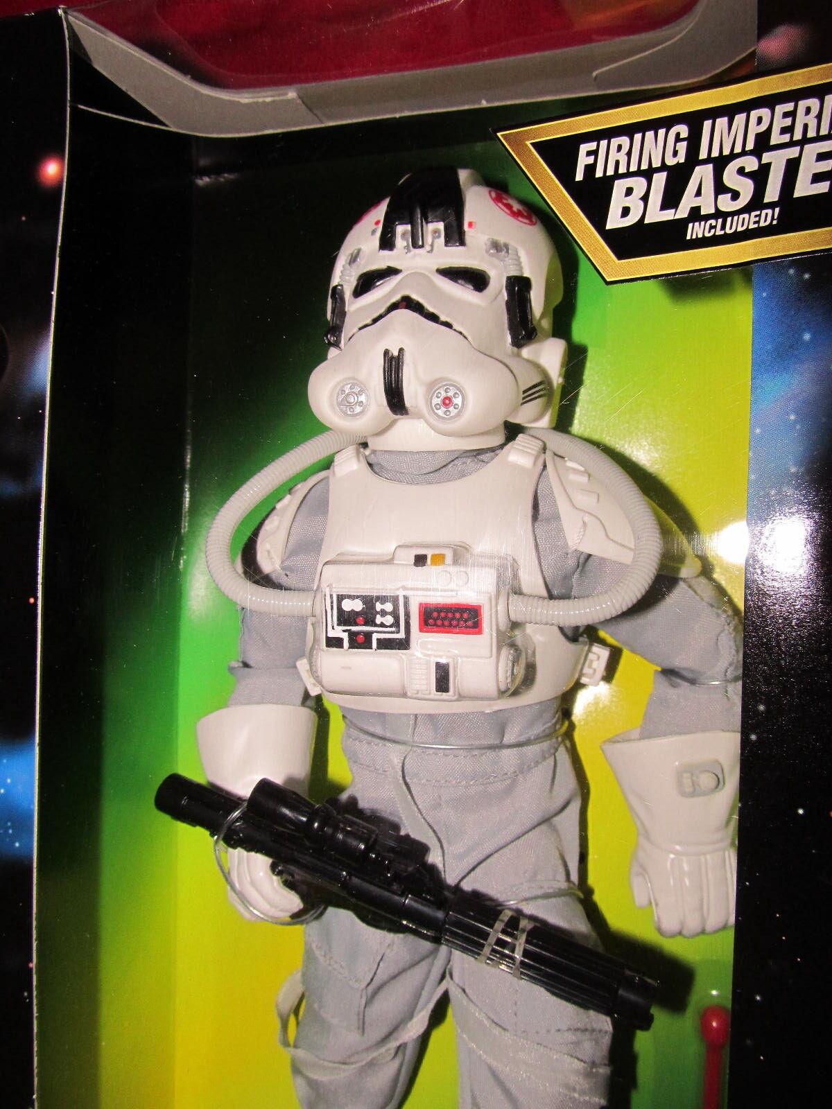 Star Wars 12  AT AT DRIVER--w Grey Uniform 1997 in Display Box  --  MIP