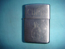 YEAR 1996 brushed chrome  ZIPPO LIGHTER with name CHRIS
