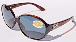 ea5b626782408 COSTA DEL MAR Blenny 580P POLARIZED Sunglasses Womens Tortoise Gray ...