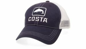 dc520afcfd4d3 NEW Costa Del Mar Trout Trucker Hat Navy White Extra Large FREE ...