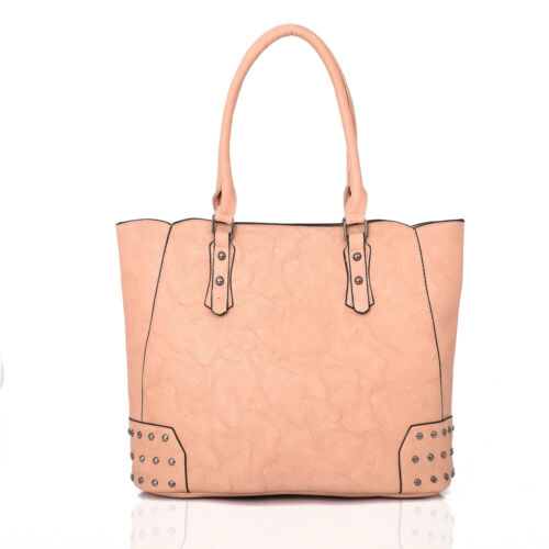 Fashion Womens Designer Office Faux Leather Tote Bag Ladies Shoulder Handbag Wor
