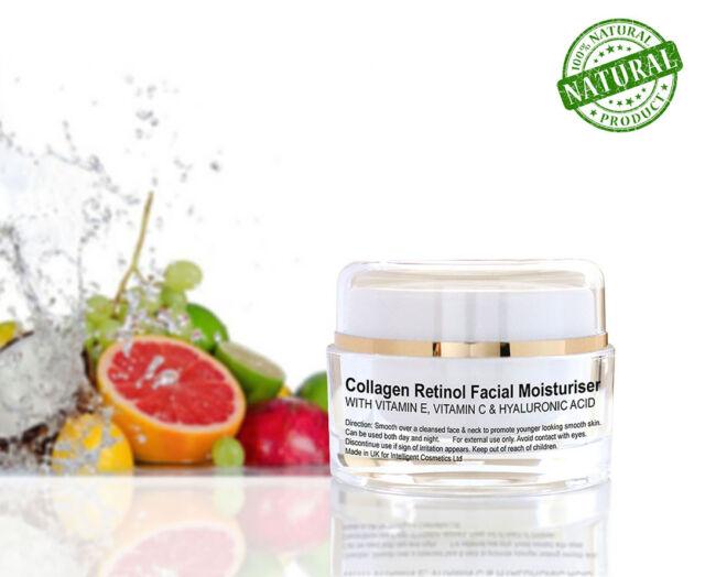 Collagen Retinol Rejuvenating Moisturiser With Hyaluronic Acid Vitamin C & Argan