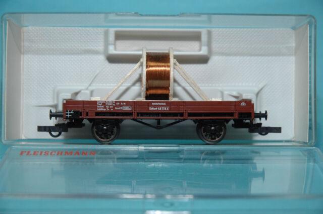 Fleischmann 5214 offener Güterwagen X Erfurt #48775 mit Ladegut DRG Ep.II