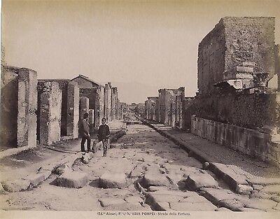 Other Militaria Pompeii Photo Alinari Italy Italy Vintage Albumin Ca 1880 Refreshing And Enriching The Saliva