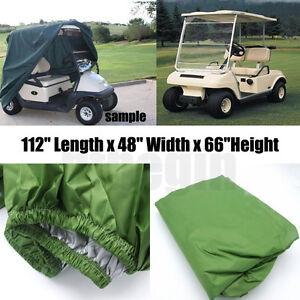 "112"" 4 Passenger  Green Storage Golf Cart Cover For  EZ Go Club Car Yamaha Cart 732140158784"