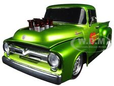 1956 FORD F-100 PICKUP TRUCK GROUND POUNDER GREEN 1/24 BY M2 MACHINES 40300-50B
