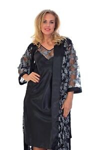 c7235b36fe3 New Womens Plus Size Floral Night Suit Ladies Gown Slip Camisole ...