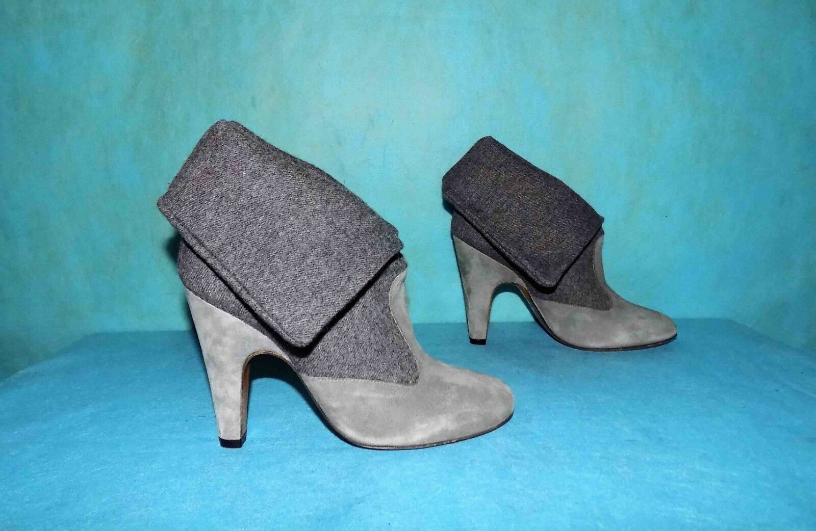 Boots Booties Booties Booties Paul & Joe Sister Suede Grey P 37 Fr Super Condition ebf6eb