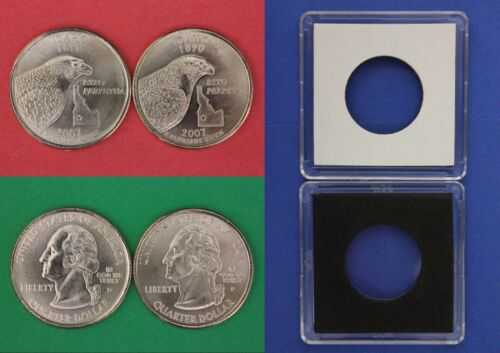 2007 D P Idaho State Quarters With 2x2 Cases From Mint Set Combined Shipping