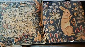 Pair-of-Vintage-Needlepoint-Bunny-Pillows
