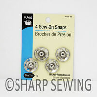 Dritz Sew-on Snaps - Nickel Silver - 4 Pack - Size 10 80-21-65