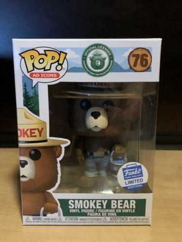 Funko Pop Smokey Bear #76 Ad Icons Funko Shop Exclusive Protector