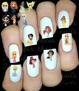 Disney-Personnages-Princesses-ongles-manucure-nail-art-water-decal-sticker