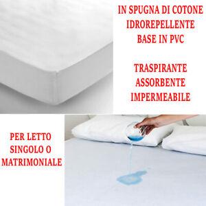 Coprimaterasso-Impermeabile-Igienico-Spugna-di-Cotone-e-PVC-Sanitario-Letto-3019