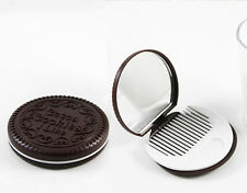 BRAND NEW Oreo Style Cookie Compact Mirror With Comb Christmas Birthday Party