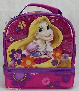 Disney Princess Rapunzel Purple Girls Lunch Bag Box 8x8x4