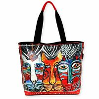 Laurel Burch Foiled Gatos Cats Large Tote Bag 2017