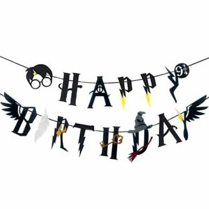 Harry-Potter-Feather-Wing-Happy-Birthday-Banner-Bunting-Garland-Party-Decoration